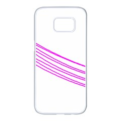 Electricty Power Pole Blue Pink Samsung Galaxy S7 Edge White Seamless Case by Mariart