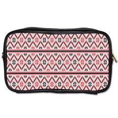 Clipart Embroidery Star Red Line Black Toiletries Bags by Mariart