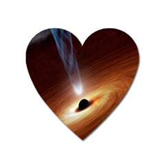 Coming Supermassive Black Hole Century Heart Magnet by Mariart
