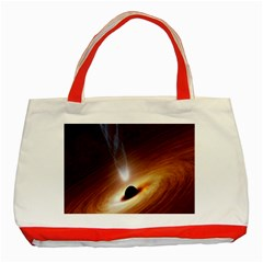 Coming Supermassive Black Hole Century Classic Tote Bag (red) by Mariart