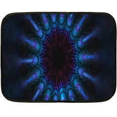 Exploding Flower Tunnel Nature Amazing Beauty Animation Blue Purple Double Sided Fleece Blanket (mini)