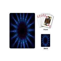 Exploding Flower Tunnel Nature Amazing Beauty Animation Blue Purple Playing Cards (mini)  by Mariart