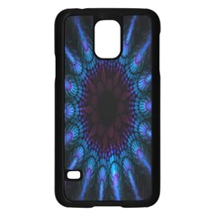 Exploding Flower Tunnel Nature Amazing Beauty Animation Blue Purple Samsung Galaxy S5 Case (black) by Mariart