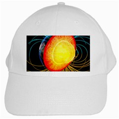 Cross Section Earth Field Lines Geomagnetic Hot White Cap by Mariart