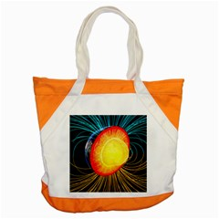 Cross Section Earth Field Lines Geomagnetic Hot Accent Tote Bag by Mariart