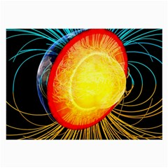 Cross Section Earth Field Lines Geomagnetic Hot Large Glasses Cloth by Mariart