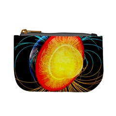 Cross Section Earth Field Lines Geomagnetic Hot Mini Coin Purses