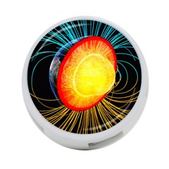 Cross Section Earth Field Lines Geomagnetic Hot 4 Port Usb Hub (two Sides)  by Mariart