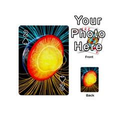 Cross Section Earth Field Lines Geomagnetic Hot Playing Cards 54 (mini)  by Mariart