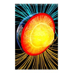 Cross Section Earth Field Lines Geomagnetic Hot Shower Curtain 48  X 72  (small)  by Mariart