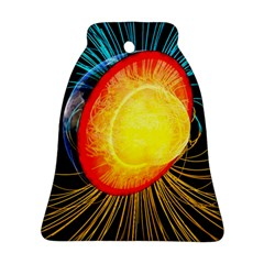 Cross Section Earth Field Lines Geomagnetic Hot Ornament (bell) by Mariart