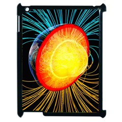 Cross Section Earth Field Lines Geomagnetic Hot Apple Ipad 2 Case (black) by Mariart