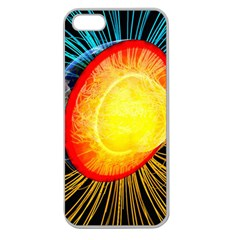 Cross Section Earth Field Lines Geomagnetic Hot Apple Seamless Iphone 5 Case (clear)