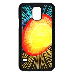 Cross Section Earth Field Lines Geomagnetic Hot Samsung Galaxy S5 Case (black) by Mariart