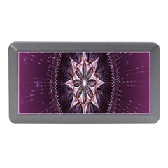 Flower Twirl Star Space Purple Memory Card Reader (mini)