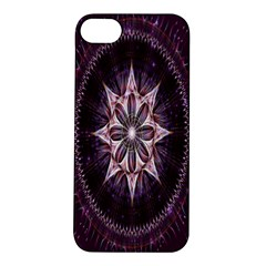 Flower Twirl Star Space Purple Apple Iphone 5s/ Se Hardshell Case by Mariart