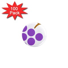 Fruit Grape Purple 1  Mini Magnets (100 Pack)  by Mariart