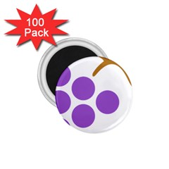 Fruit Grape Purple 1 75  Magnets (100 Pack)  by Mariart