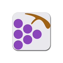 Fruit Grape Purple Rubber Coaster (square)  by Mariart