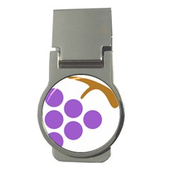 Fruit Grape Purple Money Clips (round)  by Mariart
