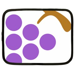 Fruit Grape Purple Netbook Case (large) by Mariart