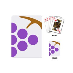Fruit Grape Purple Playing Cards (mini)  by Mariart