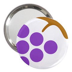 Fruit Grape Purple 3  Handbag Mirrors by Mariart