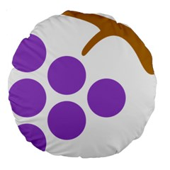 Fruit Grape Purple Large 18  Premium Round Cushions by Mariart