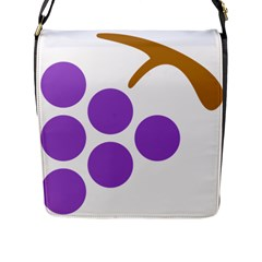 Fruit Grape Purple Flap Messenger Bag (l)  by Mariart