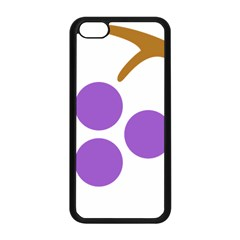 Fruit Grape Purple Apple Iphone 5c Seamless Case (black) by Mariart