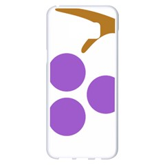 Fruit Grape Purple Samsung Galaxy S8 Plus White Seamless Case by Mariart