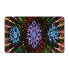 Flower Stigma Colorful Rainbow Animation Gold Space Magnet (rectangular) by Mariart