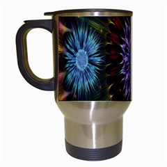 Flower Stigma Colorful Rainbow Animation Gold Space Travel Mugs (white) by Mariart