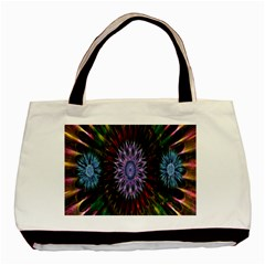 Flower Stigma Colorful Rainbow Animation Gold Space Basic Tote Bag by Mariart