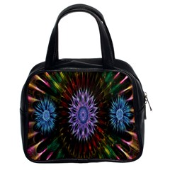 Flower Stigma Colorful Rainbow Animation Gold Space Classic Handbags (2 Sides) by Mariart