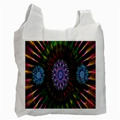 Flower Stigma Colorful Rainbow Animation Gold Space Recycle Bag (one Side) by Mariart