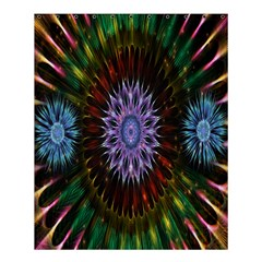 Flower Stigma Colorful Rainbow Animation Gold Space Shower Curtain 60  X 72  (medium)  by Mariart