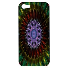 Flower Stigma Colorful Rainbow Animation Gold Space Apple Iphone 5 Hardshell Case by Mariart