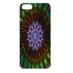 Flower Stigma Colorful Rainbow Animation Gold Space Apple Iphone 5 Seamless Case (white) by Mariart