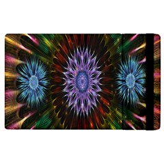 Flower Stigma Colorful Rainbow Animation Gold Space Apple Ipad 3/4 Flip Case