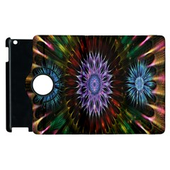 Flower Stigma Colorful Rainbow Animation Gold Space Apple Ipad 2 Flip 360 Case by Mariart