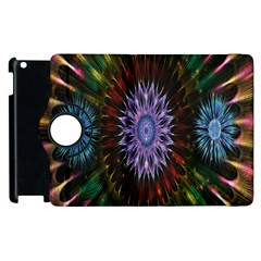 Flower Stigma Colorful Rainbow Animation Gold Space Apple Ipad 3/4 Flip 360 Case by Mariart