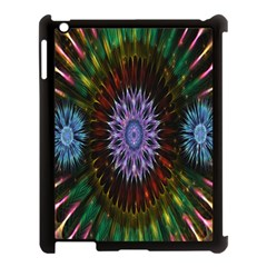 Flower Stigma Colorful Rainbow Animation Gold Space Apple Ipad 3/4 Case (black) by Mariart