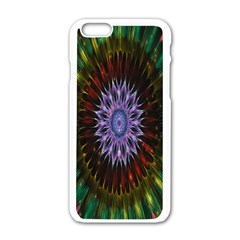 Flower Stigma Colorful Rainbow Animation Gold Space Apple Iphone 6/6s White Enamel Case by Mariart