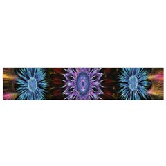 Flower Stigma Colorful Rainbow Animation Gold Space Flano Scarf (small) by Mariart
