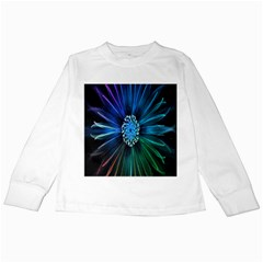 Flower Stigma Colorful Rainbow Animation Space Kids Long Sleeve T-shirts by Mariart