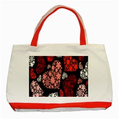 Floral Flower Heart Valentine Classic Tote Bag (red) by Mariart