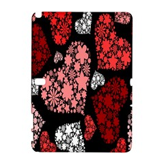 Floral Flower Heart Valentine Galaxy Note 1 by Mariart