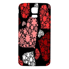 Floral Flower Heart Valentine Samsung Galaxy S5 Back Case (white)