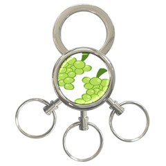 Fruit Green Grape 3 Ring Key Chains